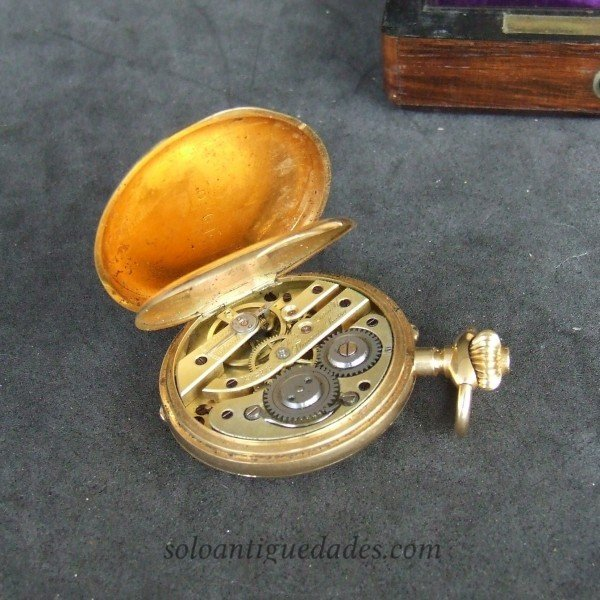 Antique Saboneta gold watch original case
