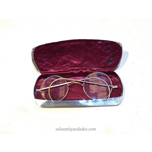 Antique Glasses with Silver Case