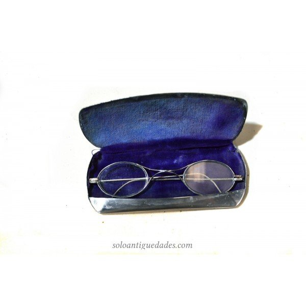 Antique Metal-rimmed glasses silver