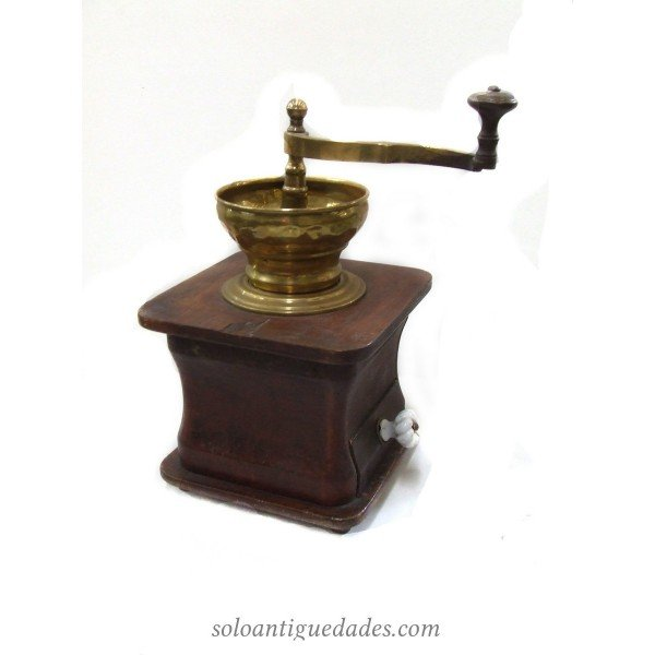 Antique Coffee grinder with white knob