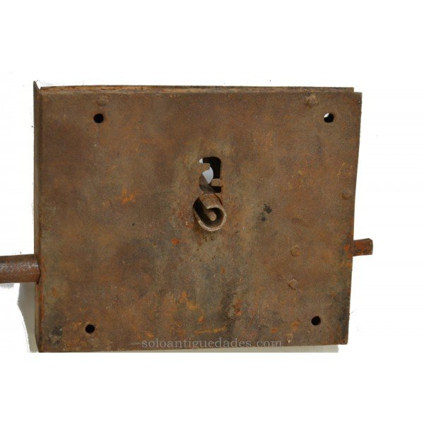 Antique Iron lock with a latch