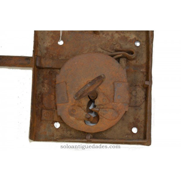 Antique Lock with square shaped box