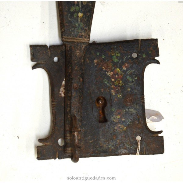 Antique Lock with scroll shaped pin