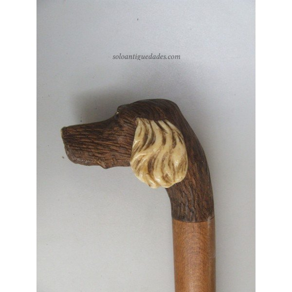 Antique Staff decorated with dog head