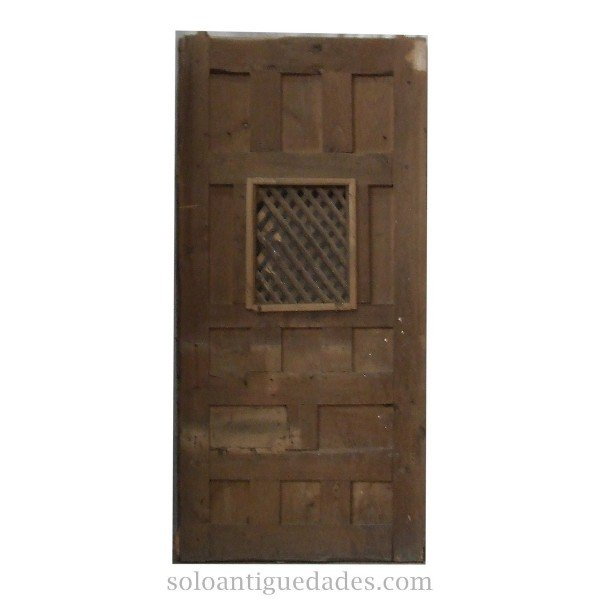 Antique Confessional door with marble effect