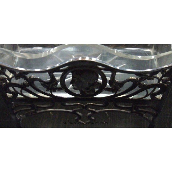 Antique Fruit bowl with relief decoration