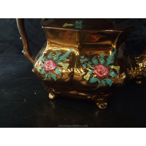 Antique Glazed earthenware teapot