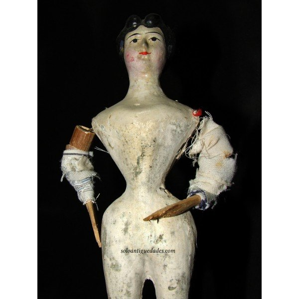 Antique Paper mache doll