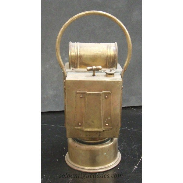 Antique Albert Butin lantern lamp brand