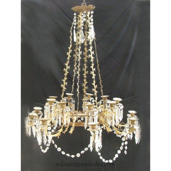 Antique Versailles style chandelier lamp