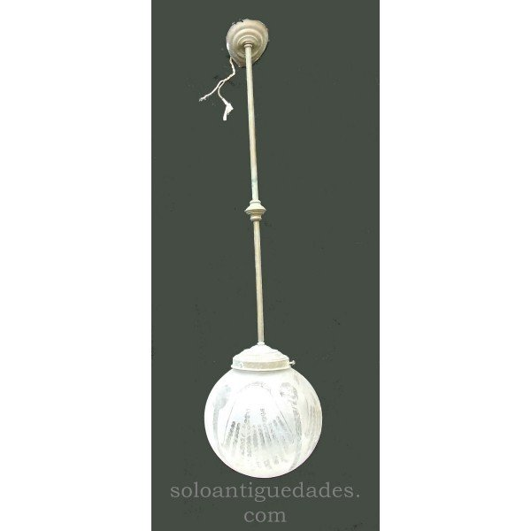 Antique Lamp with tulip shaped balloon