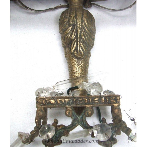 Antique Versailles gilt bronze lamp