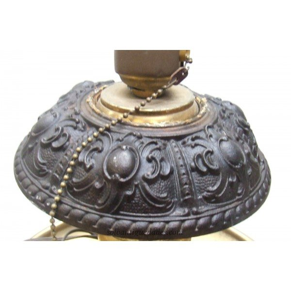 Antique Bronze and brass lamp
