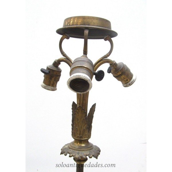 Antique Table lamp on marble