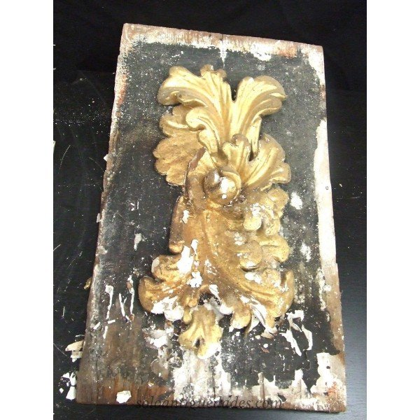 Antique Pair of painted wood panels