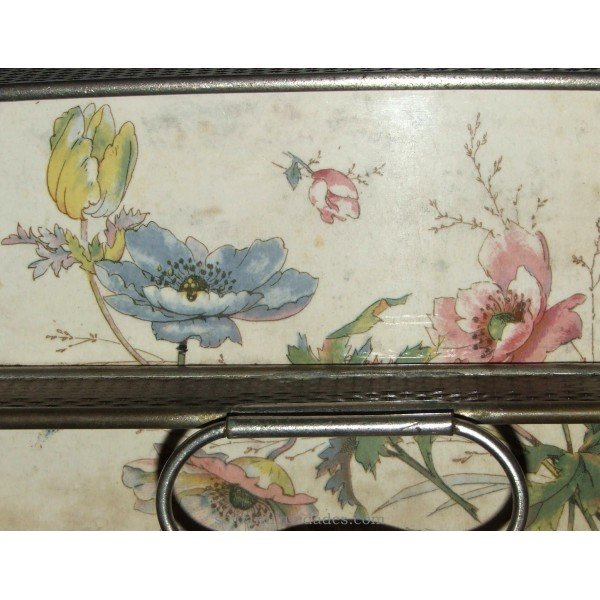 Antique Tray with cornice and central handle