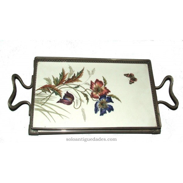 Antique Porcelain rectangular tray