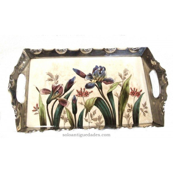 Antique Porcelain tray with floral