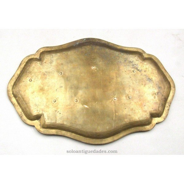 Antique Brass oval tray