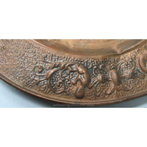 Antique Brass tray decorated with horse head
