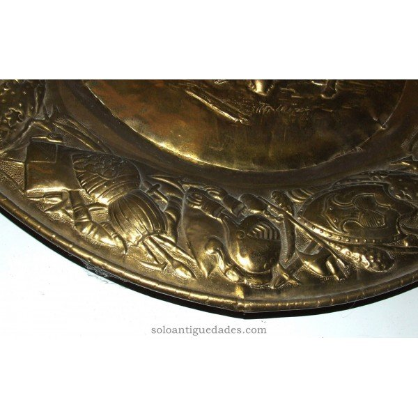 Antique Brass tray interior scene