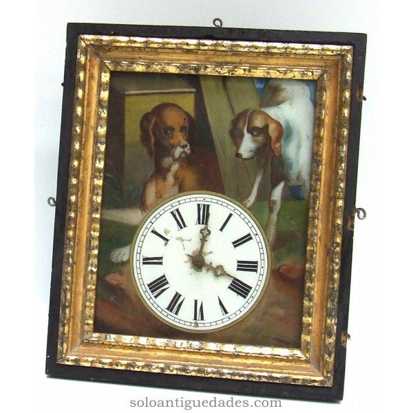 Antique Black Forest Clock type. Cover glass.