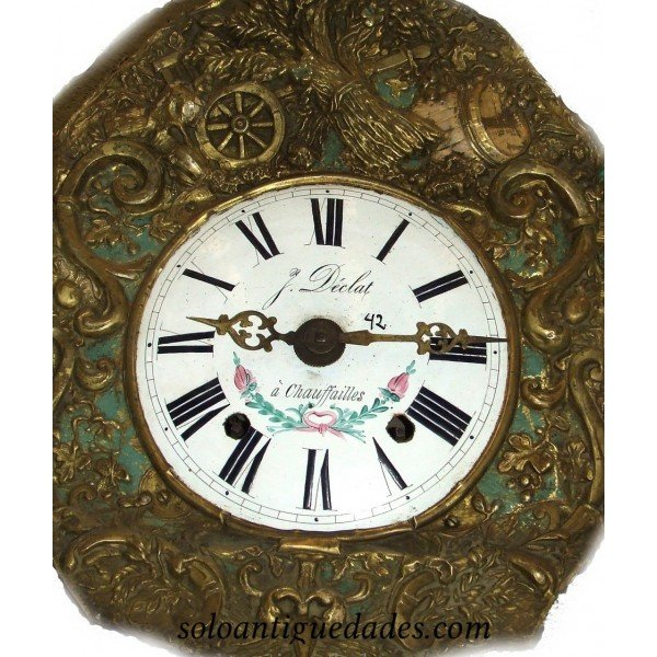 Antique Watch Type Morez. Naval Scene