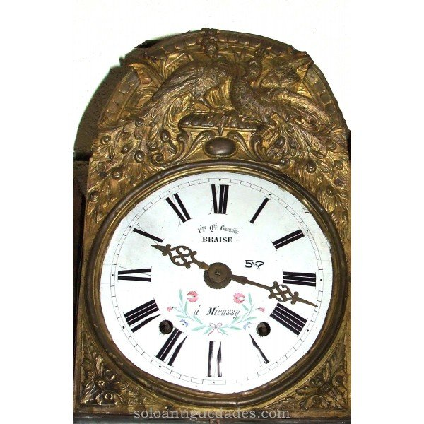 Antique Watch Type Morez. Representation of peacocks