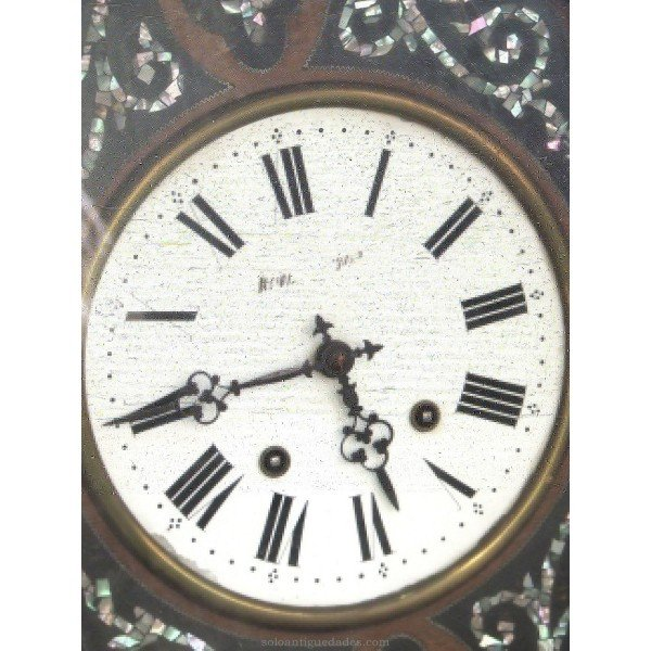 Antique Clock Ox-eye type. Machinery Morez
