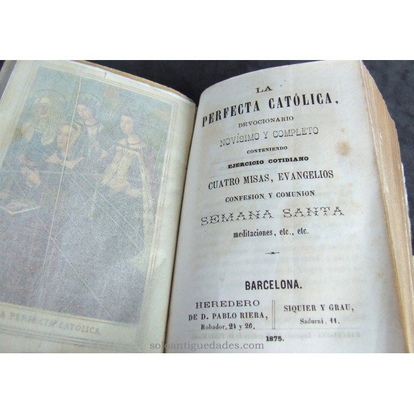 "Antique Prayer Book ""THE PERFECT CATHOLIC"""