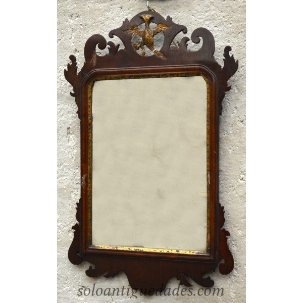 Antique Modernist mirror carved frame