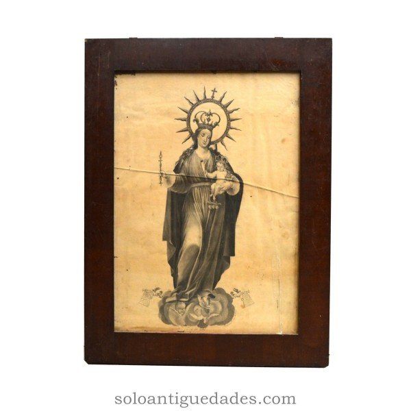 "Engraving ""Our Lady of Charity"""