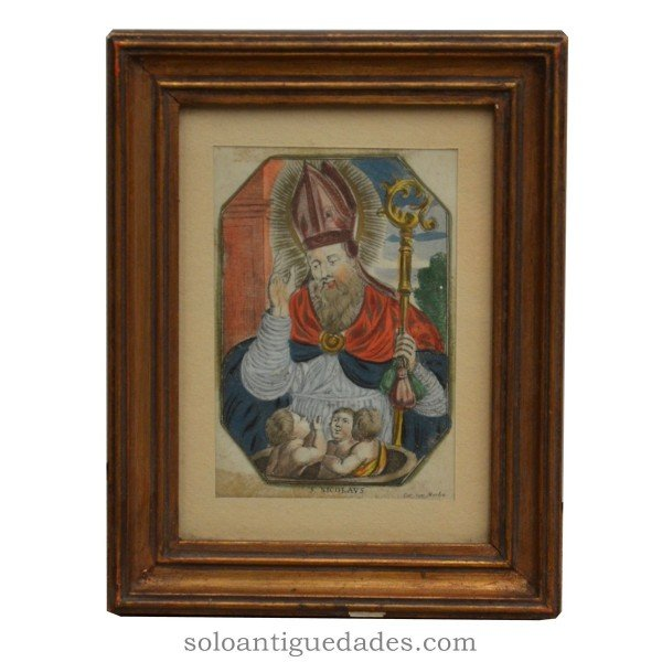 "Color engraving ""St. Nicolaus"""