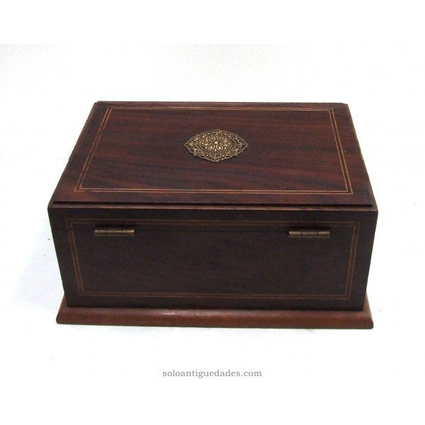 Antique Elegant collection box decorated with filigree