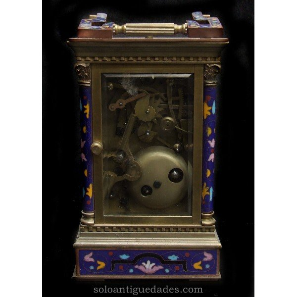 Antique Bronze clock with box