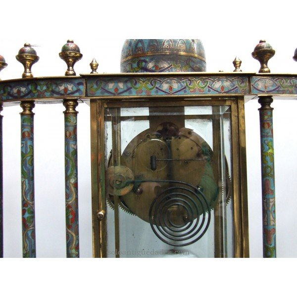 Antique French clock with columns