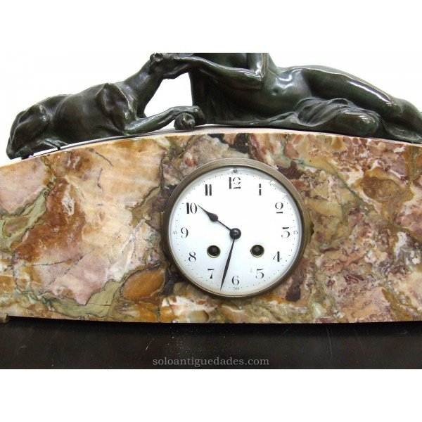 Antique French Clock female sculpture