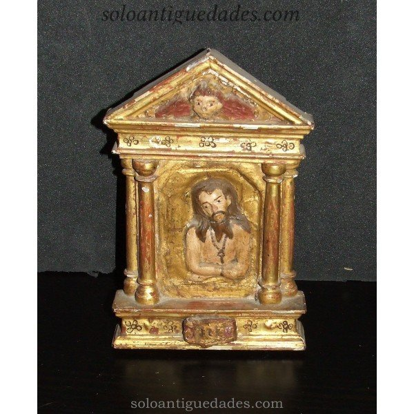 Small altar with relief of Jesus Christ