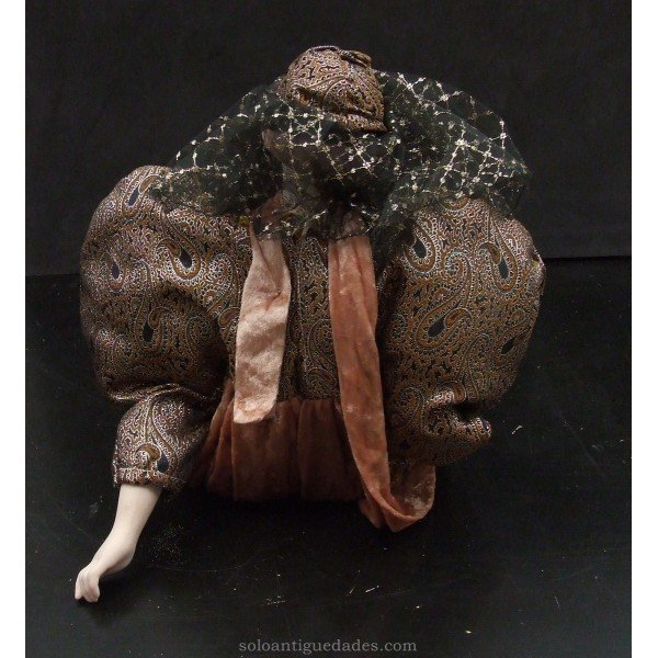Antique Porcelain doll suit and turban