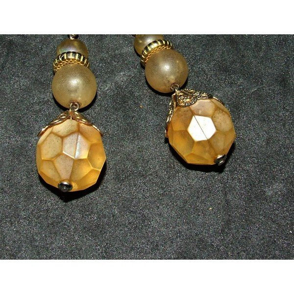 Antique Silver earrings and glass paste