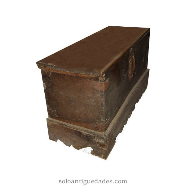 Antique Ark of walnut with geometric