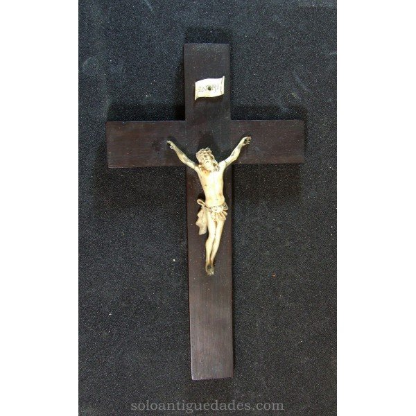 Antique Ivory crucifix with Christ