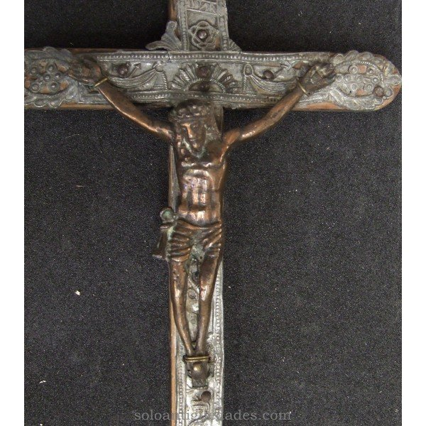 Antique Crucifix Passion motif