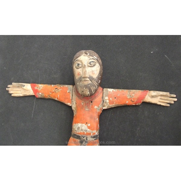 Antique XII century Romanesque Christ