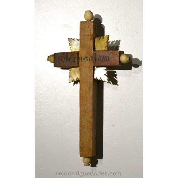 Antique Crucifix with pearl wings