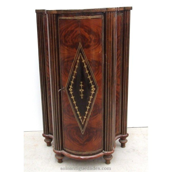Corner cabinet decorated with rhomboid