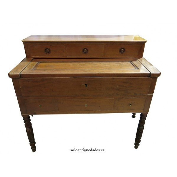 Antique French Mahogany Bureau