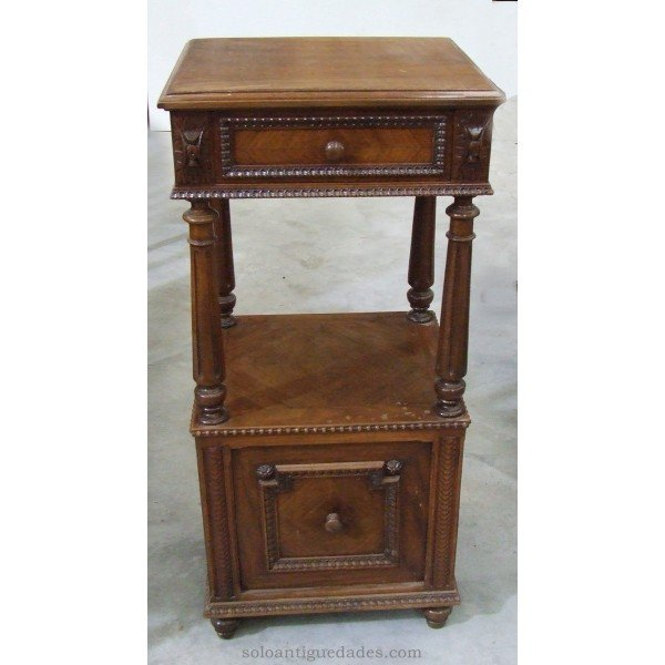 Old wooden nightstand