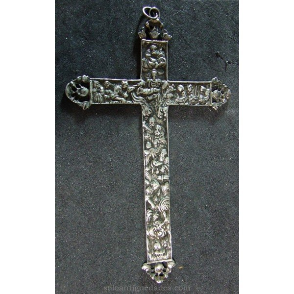 Engraved silver Latin Cross