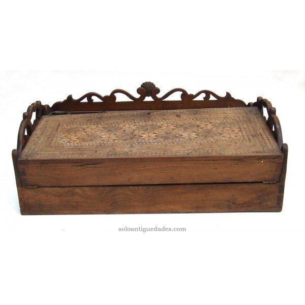 Antique Box decorated wooden desk